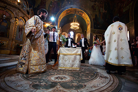 fotografie nunta cununia religioasa in biserica