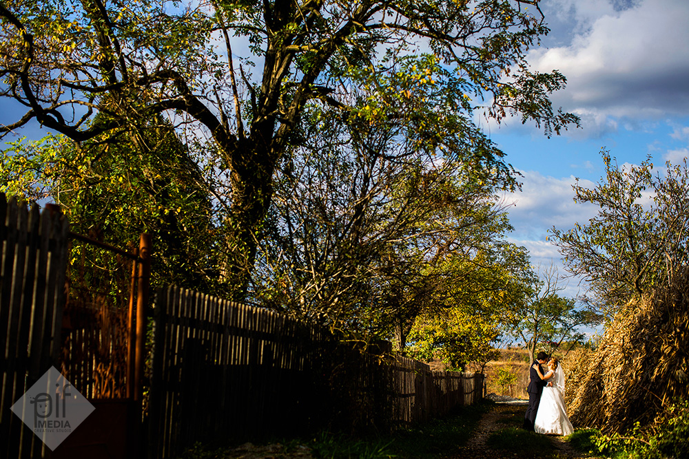 sesiunea foto din ziua nuntii cu ani si catalin pe o ulita